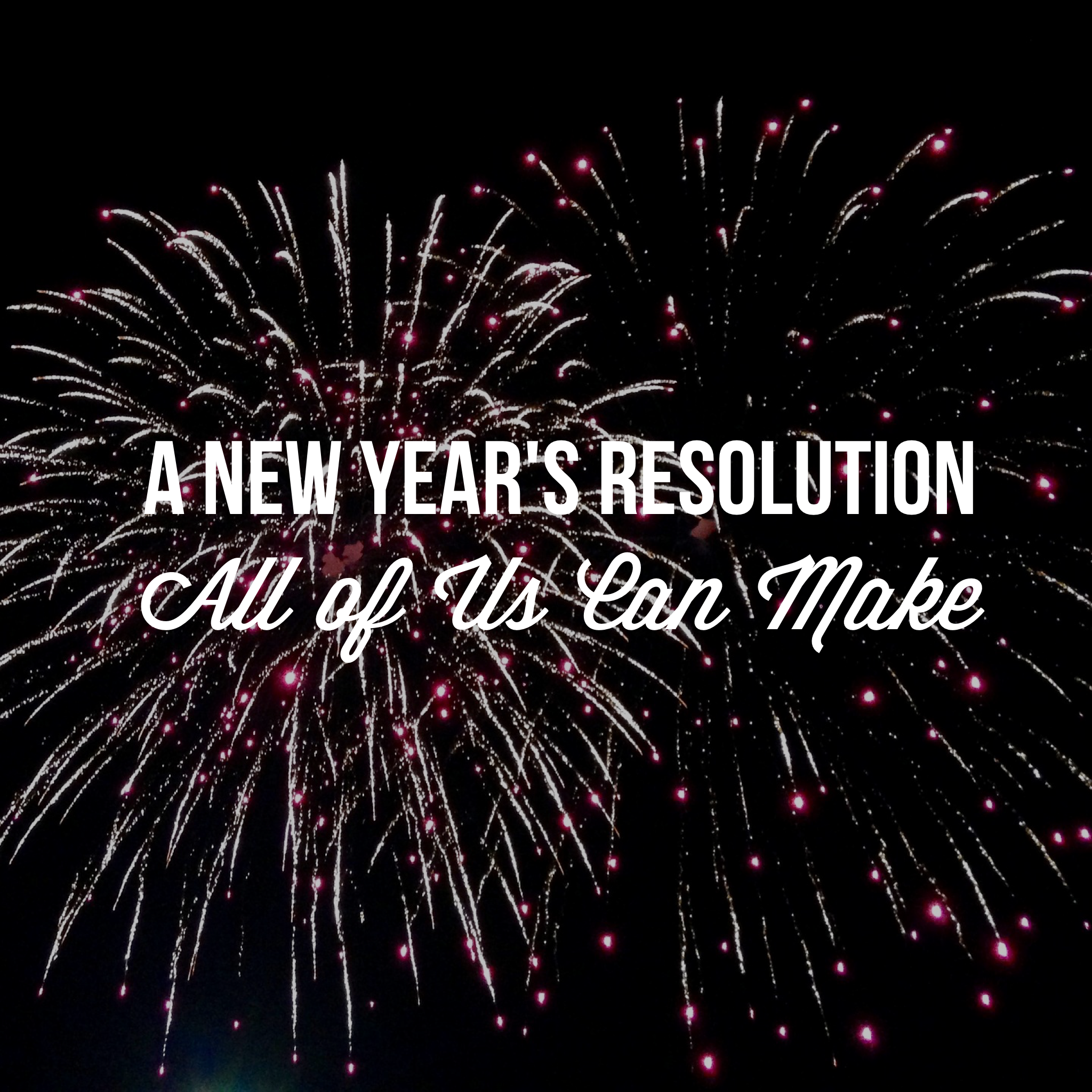 A New Year's Resolution All Of Us Can Make by Diana Anderson-Tyler